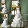 New arrival beaded sweetheart 2013 satin wedding dresses