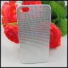 0.3mm Ultrathin Titanium Mesh Metal Back Snap-on Case Cover for Apple iPhone 5 Generation - Silver