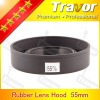 fashion product 55mm rubber lens hood
