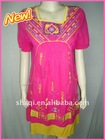 Exotic long style women's embroidered shirt