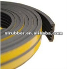 Brown adhesive rubber seal strip
