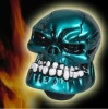 Shiny Blue Custom Human Skull Stick Shift Gear Shifter Knob Car Truck Universal