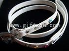 White bling luxury jewerly leather Dog Pet leash