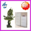 2012 OEM white 3D metal shoes cabinet, metal shoes cabinet with jade . metal cabinet, jade ,jade carving,jade sculpture