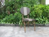 round back stackable rattan chair