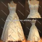 Style R111416 one shoulder embroidery satin vestidos de novia 2012