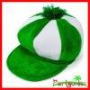 St. Patrick's Day Green & White Velvet Newsboy Hat
