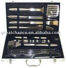 21pcs Aluminum Barbecue Tools Case