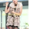 BY-HN-G028 Fashion Waistcoat for Women, Pink fox fur