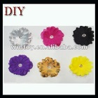Fabric flower for earring making colorful