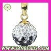 2012 Newest style fashion Gold Plated Silver crystal pendant for necklace