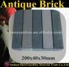 Antique Brick -- Cyan & Gray 200x40x30mm