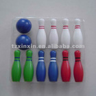 wooden color bowling game set outdoor games 8478