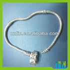 925 silver snake bracelet for big hole lampwork beads bracelet 20cm JP23#