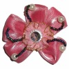 fashion fabric flower and beads for garment