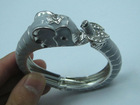 2013 latest style fashion animal head jewelry alloy elephant bangle for decoration