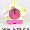 FLOWER wooden gift desk Clock