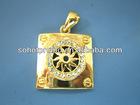 diamond pendant, gold plated jewelry sets