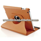 2012 NEWEST unique design 360-degree rotated for leather ipad3 case