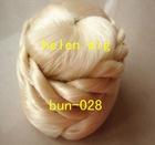 blonde synthetic hair chignon hair bun maker