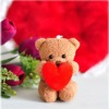 plush couple bear keychain for Valentine gifts