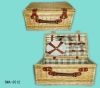 Wicker picnic set with whole set of dinner ware SWA-3512