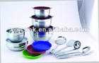 Stainless steel salad bowl set(XM1036BS)