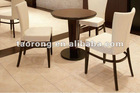 Hotel single wood frame chair with curved back CH-223