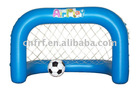 Inflatable football and soccer goal