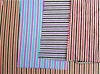 polyester stripe knitting fabric
