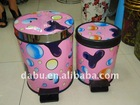 Lovely pink plastic dustbin,garbage can,trash bin,ashbin