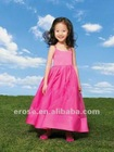 2012 New Design Lovely Hot Pink Spaghetti Straps Girls Party Dress FG-067