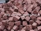 Putian Red Granite Cube Stone