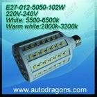 E27 102 pcs 220-240v warm white house led light lamp spot lightl lamp