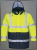 Hiviz PU Rain jacket