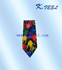 Mens colorful neckties custom print silk tie