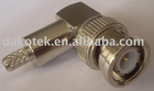 BNC male Right Angle connector