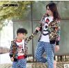 New Autumn clothes---Milk sister personal Floral long sleeve sweater for Mother and son 4694