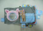 Textile/Fabric single/multipage Embroider Earlier Children Educational book, soft book