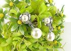 The bride's pearl earrings
