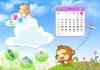 Pretty Cartoon calendar