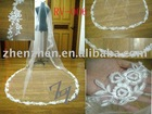 2011 newest style, customized one layer, tulle with lace applique bridal veil RV-006