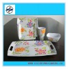 4PCS beautiful melamine dinnerware sets