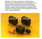 POWER RELAYS REED RELAYS SOLID-STATE