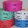 numbered admission tickets rolls