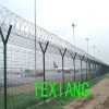 Airport wire mesh fencing