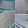 Round cross bar Hot-dipped serrated galvanized steel grating weight (manufacturer)