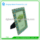 4*6 alloy photo frame with blue bead