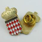 B495 lantern shaped metal lapel pin