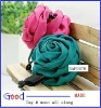 3colors fabric flower hair flower head flower with banana clip made in China